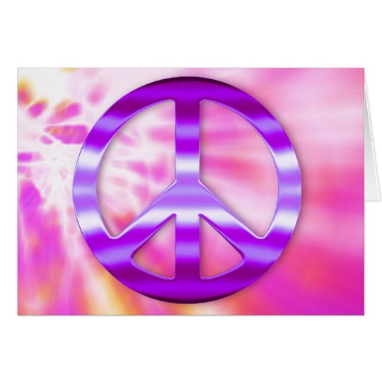 Pretty Purple Peace Sign Card
