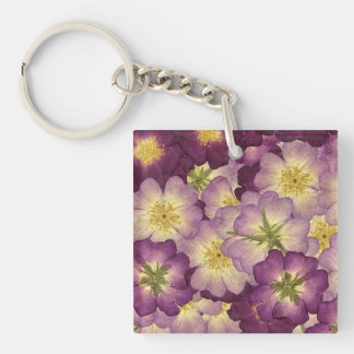Pretty Purple Petals Keychain
