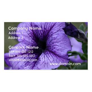 Pretty Purple Petunia Business Cards