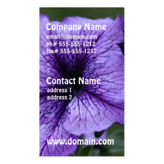 Pretty Purple Petunia Business Card