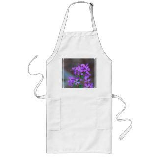 Pretty Purple Phlox Flowers Long Apron