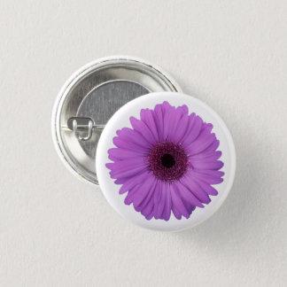 Pretty Purple Photographic Gerbera Daisy Flower Pinback Button