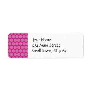 Pretty Purple Pink Big Polka Dots Pattern Label