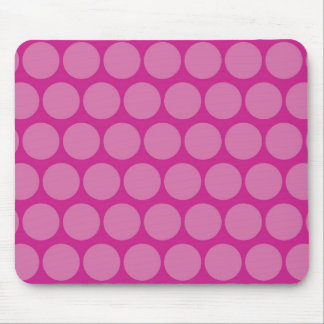Pretty Purple Pink Big Polka Dots Pattern Mouse Pad