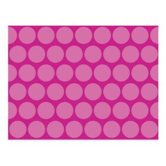 Pretty Purple Pink Big Polka Dots Pattern Postcard