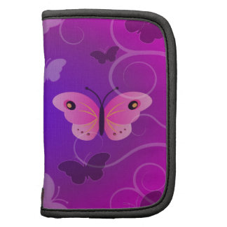 Pretty Purple Pink Butterfly  Small Folio Planner Folio Planners