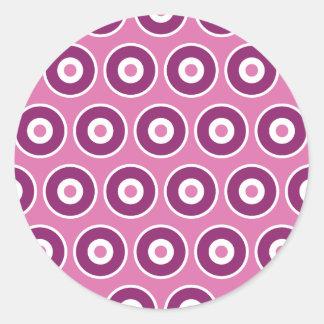Pretty Purple Pink Circles Polka Dots Patterns Classic Round Sticker