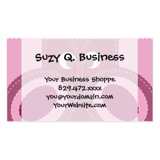 Pretty Purple Pink Owl Stitched Look Pattern Double-Sided Standard Business Cards (Pack Of 100)