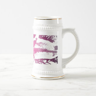 Pretty Purple Pink Watercolor Flower Art Prints Beer Stein