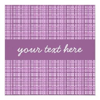 Pretty purple plaid square all occasion card