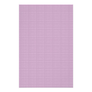 Pretty purple plaid stationery