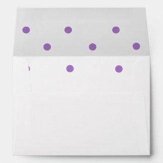 Pretty Purple Polka Dots Envelope