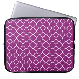 Pretty Purple Quatrefoil Pattern Computer Sleeve