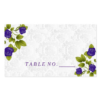 Pretty Purple Rose Flower Place Cards