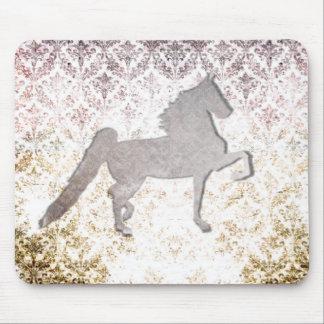 Pretty Purple Saddlebred Horse Mousepad