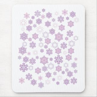 Pretty Purple Snowflakes Mouse Pad