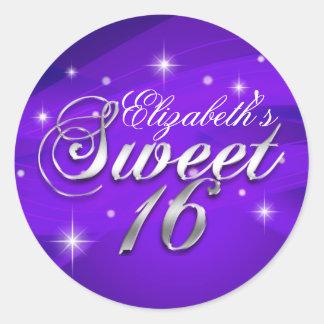 Pretty Purple Sparkle Sweet Sixteen Sticker