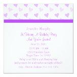 """Pretty Purple Sweetheart Invitations 5.25"""" Square Invitation Card"""