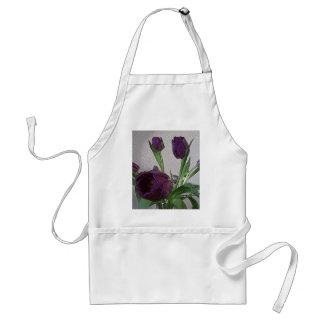 Pretty Purple Tulips Adult Apron