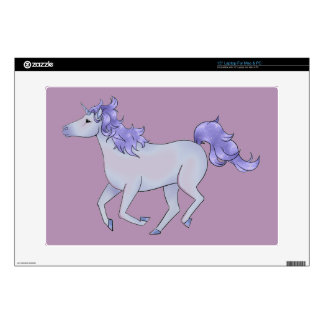 Pretty Purple Unicorn Laptop Decals