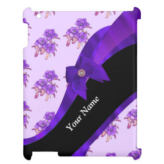 Pretty purple vintage floral flower pattern case for the iPad