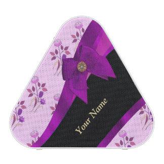 Pretty purple vintage floral pattern speaker