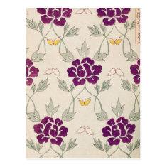 Pretty Purple Vintage Flower Post Cards