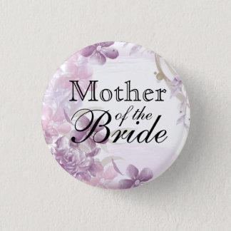 Pretty Purple Watercolor Flowers Pinback Button