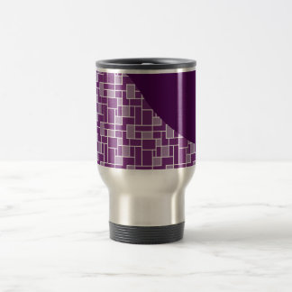 Pretty Purple Wave Tiled Pattern Gifts Travel Mug