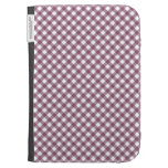 Pretty Purple White Plaid Pattern Gifts for Her Kindle Cases