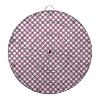 Pretty Purple White Plaid Pattern Gifts for Her Dart Board