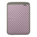 Pretty Purple White Plaid Pattern Gifts for Her MacBook Air Sleeve