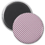 Pretty Purple White Plaid Pattern Gifts for Her Magnet
