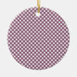 Pretty Purple White Plaid Pattern Gifts for Her Ornaments