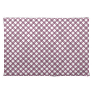 Pretty Purple White Plaid Pattern Gifts for Her Cloth Place Mat