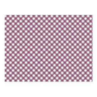 Pretty Purple White Plaid Pattern Gifts for Her Postcard