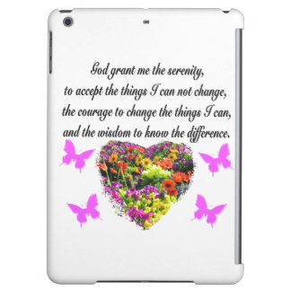 PRETTY PURPLE WILD FLOWER SERENITY PRAYER PHOTO