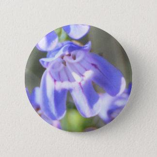 Pretty Purple Wildflowers Button