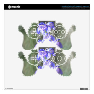 Pretty Purple Wildflowers Decal For PS3 Controller