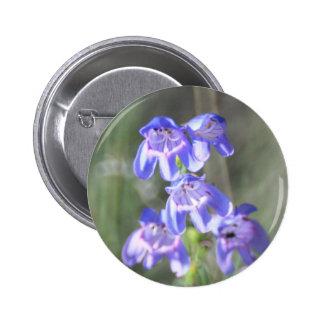 Pretty Purple Wildflowers Pinback Button