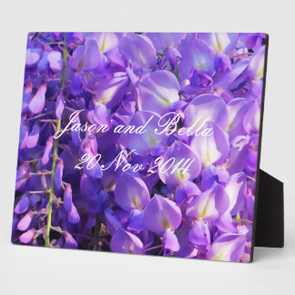 Pretty purple Wisteria flowers Plaque