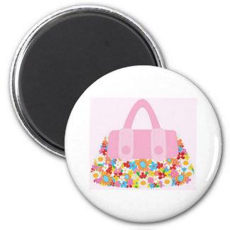 pretty purse 2 inch round magnet