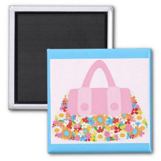 pretty purse 2 inch square magnet
