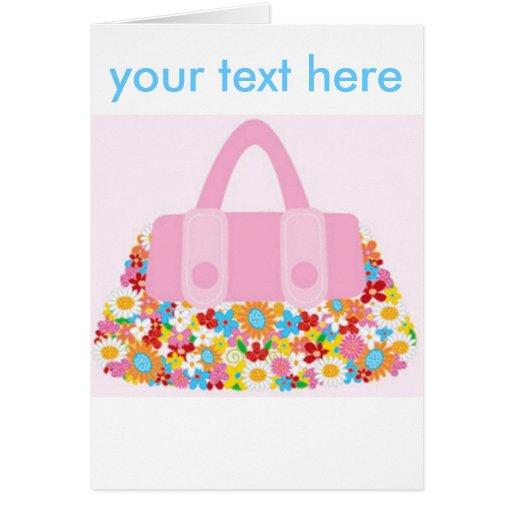 pretty purse greeting card