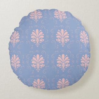 Pretty quartz serenity damask patterned round pillow