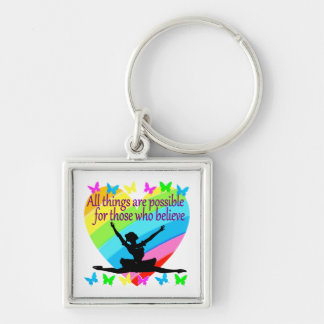 PRETTY RAINBOW ALL THINGS ARE POSSIBLE BALLERINA KEYCHAIN