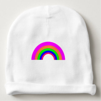 Pretty Rainbow Cotton Rib Infant Hat