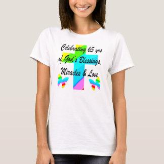 PRETTY RAINBOW CROSS 65TH BIRTHDAY DESIGN T-Shirt