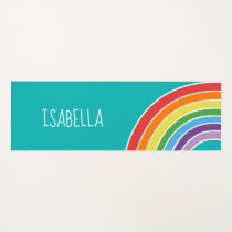 Pretty Rainbow Girls Personalized Yoga Mat