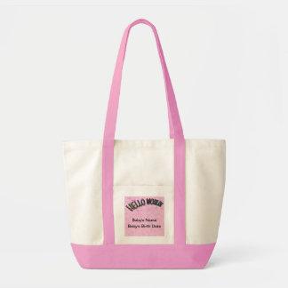 Pretty Rainbow Hello World Tote Bags
